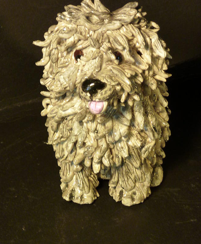 Shaggy Dog Sculpture