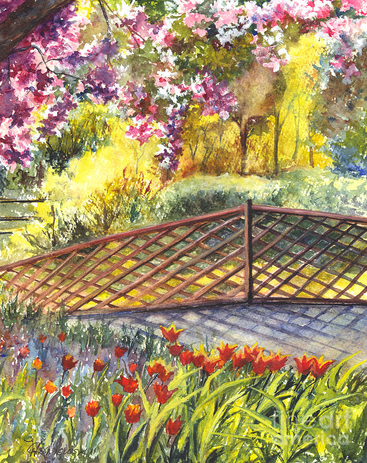Shakespeare Garden Central Park New York City Painting  - Shakespeare Garden Central Park New York City Fine Art Print