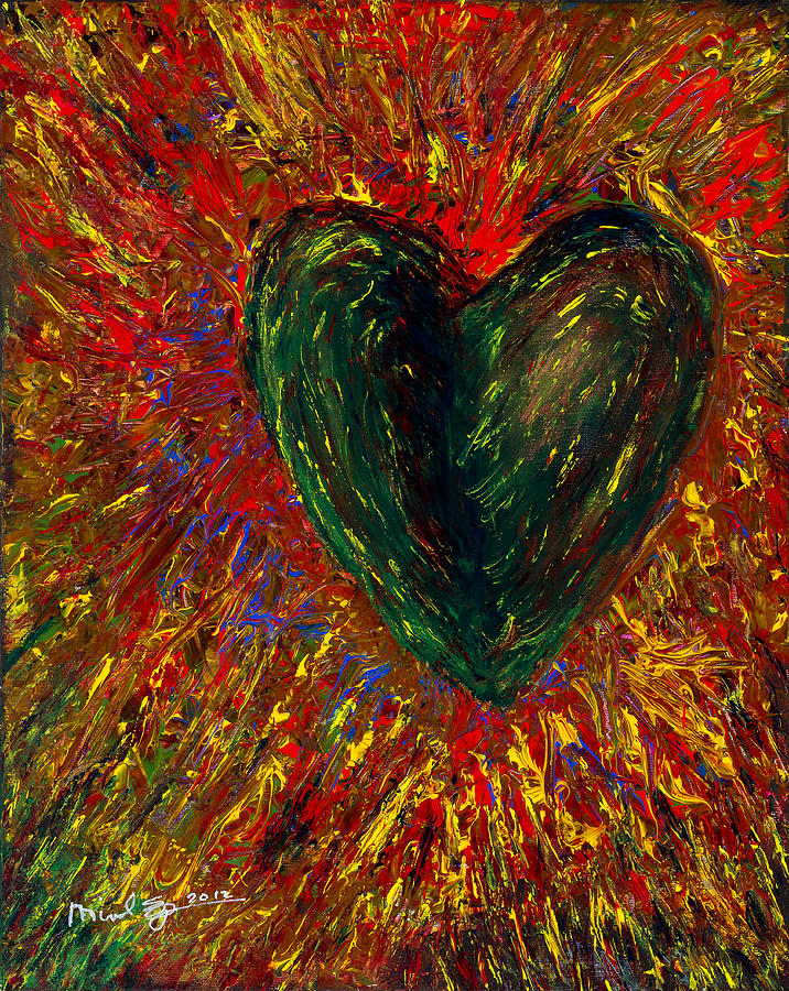 Heart Painting - Shaking It Off by Michael Spencer