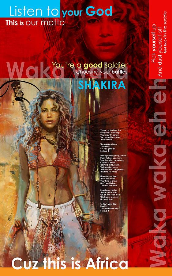 Shakira Art Poster Painting