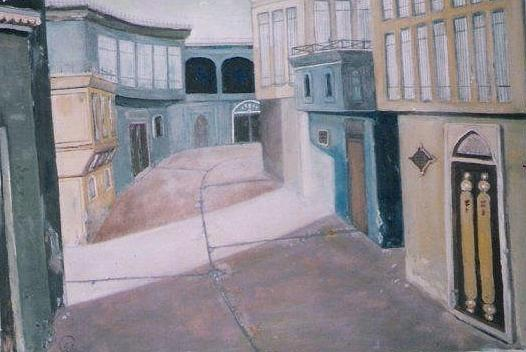 Building Painting - Shanasheel Of Baghdad 1 by Rami Besancon