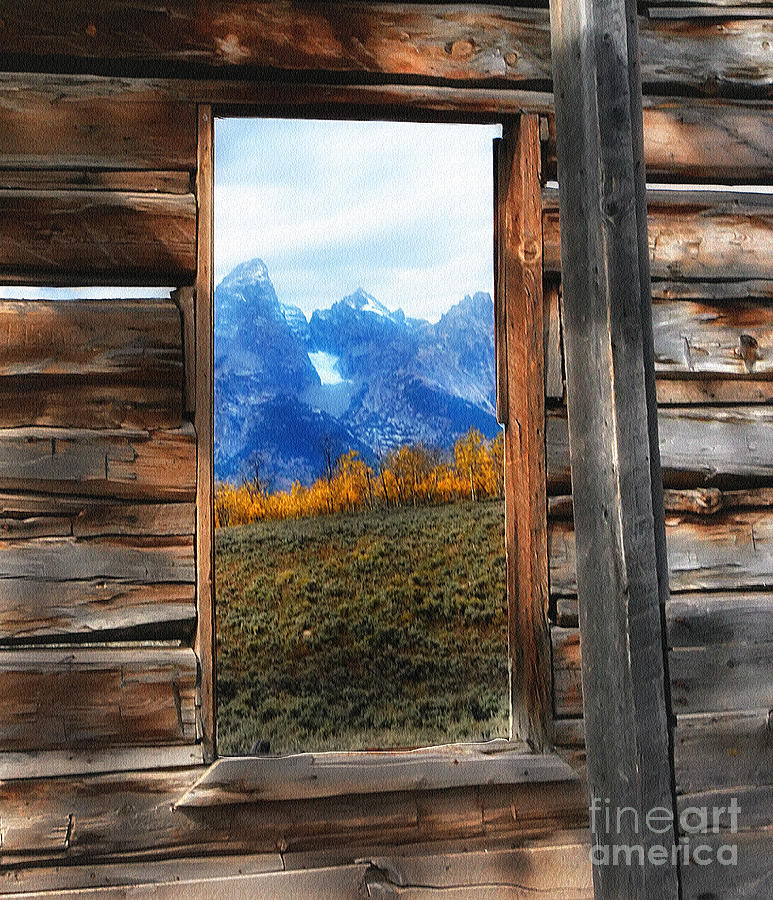 Shane Cabin Window Photograph By Clare Vanderveen