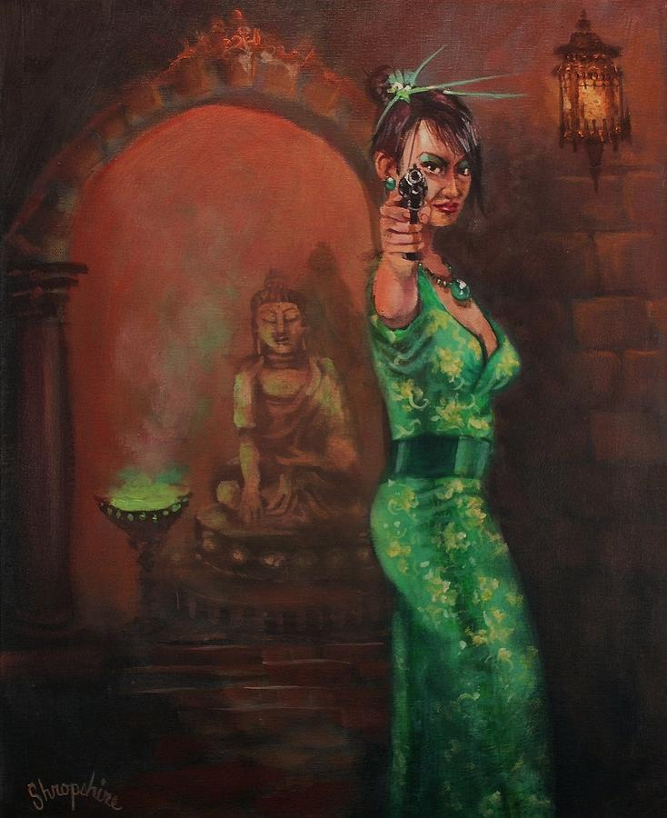 Art Noir Painting - Shanghai Surprise by Tom Shropshire