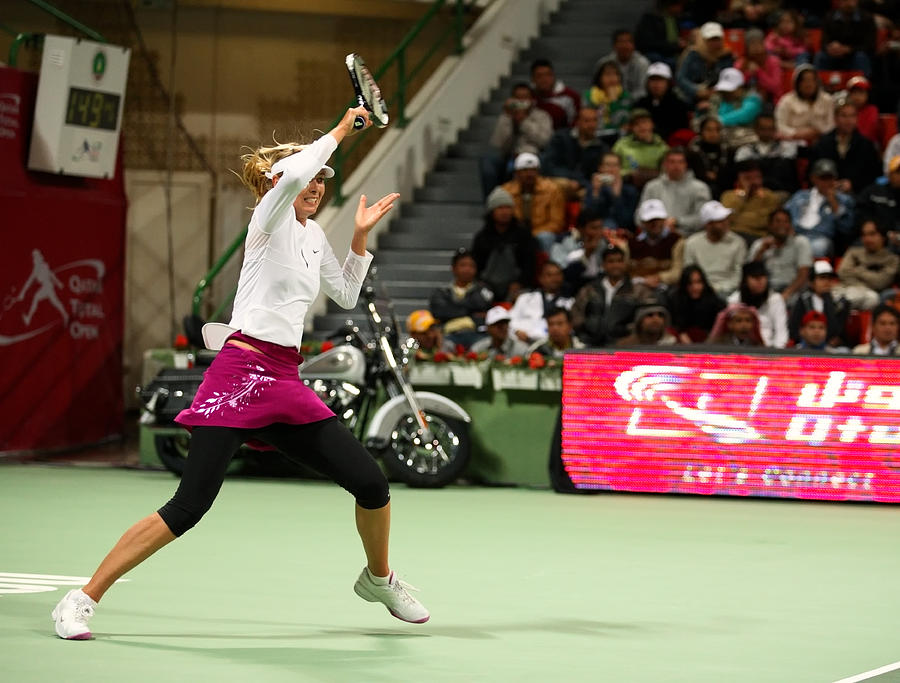 Sharapova At Qatar Open Photograph  - Sharapova At Qatar Open Fine Art Print