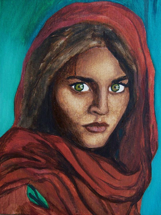 Sharbat Gula Painting