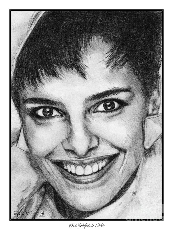Shari Belafonte In 1985 Drawing  - Shari Belafonte In 1985 Fine Art Print