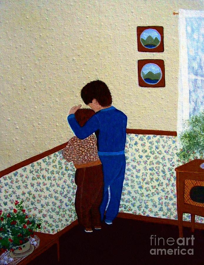 Barbara Griffin Painting - Sharing The Punishment by Barbara Griffin