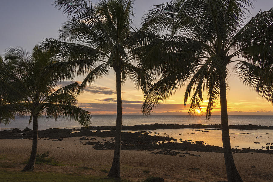 Sharks Cove Sunset 4 - Oahu Hawaii Photograph  - Sharks Cove Sunset 4 - Oahu Hawaii Fine Art Print
