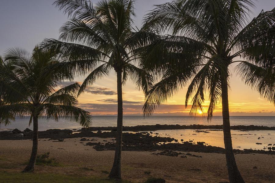 Sharks Cove Sunset 4 - Oahu Hawaii Photograph