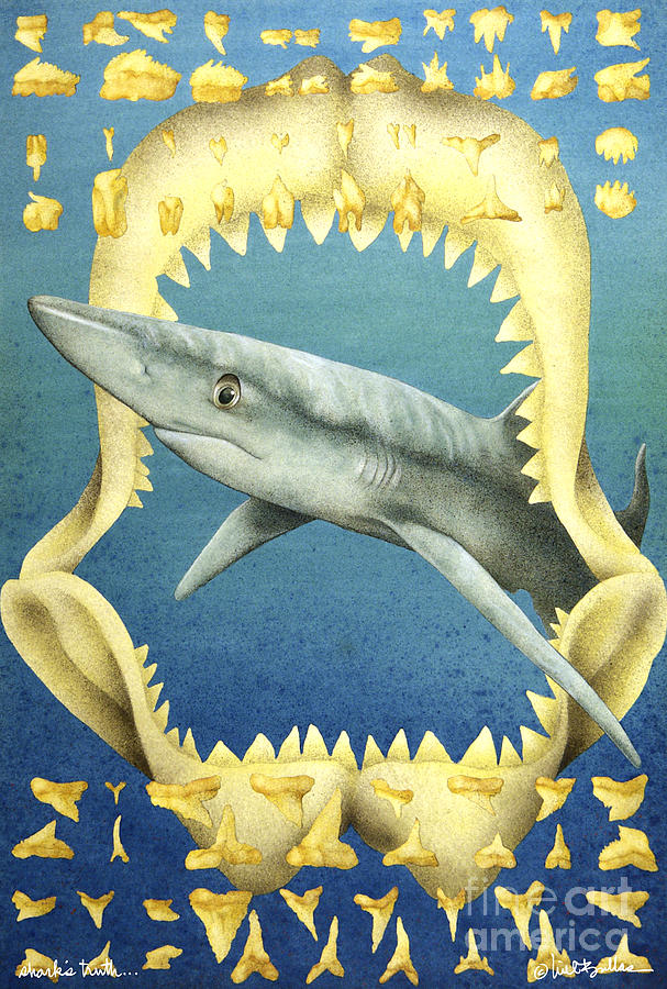 Sharks Truth... Painting  - Sharks Truth... Fine Art Print
