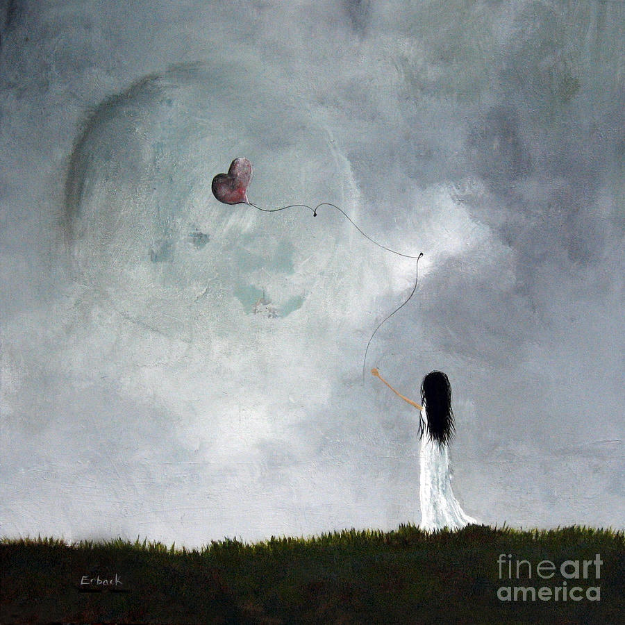 She Releases You By Shawna Erback Painting  - She Releases You By Shawna Erback Fine Art Print