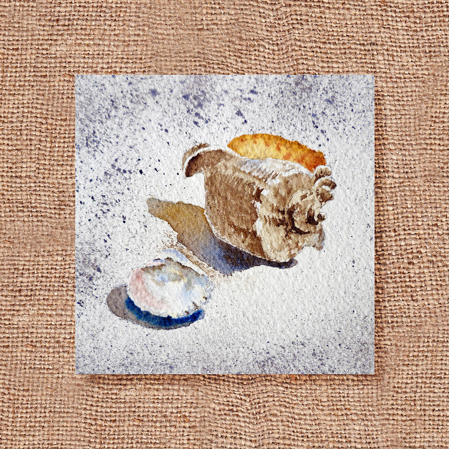 She Sells Sea Shells Decorative Collage Painting