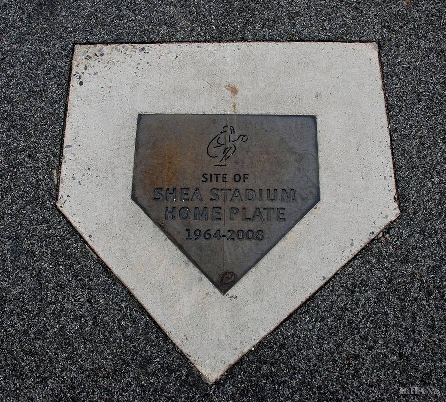 Shea Stadium Photograph - Shea Stadium Home Plate by Rob Hans