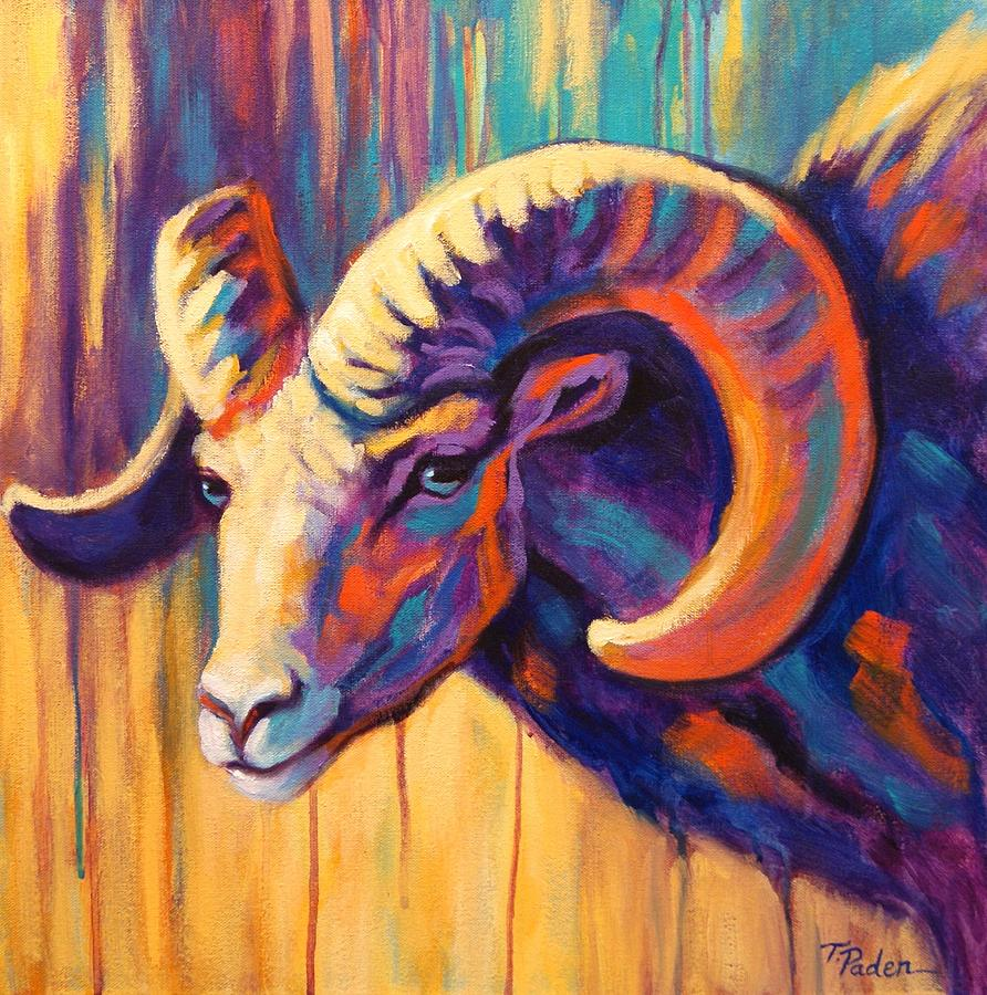 Sheepish Bighorn Painting  - Sheepish Bighorn Fine Art Print