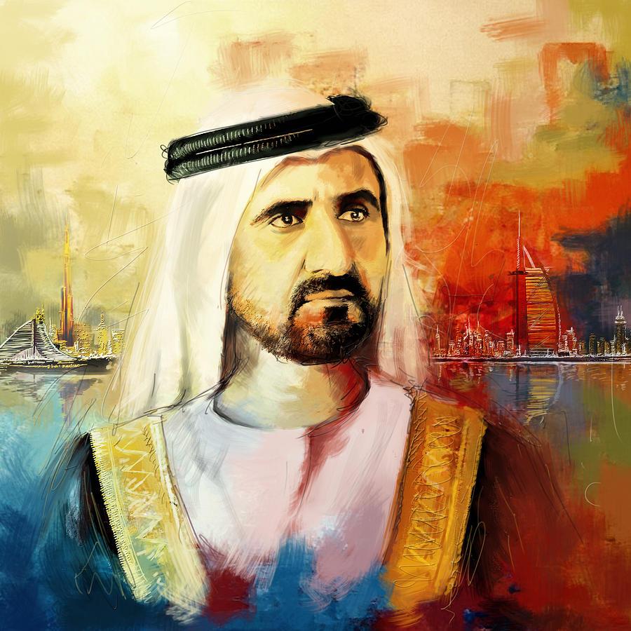 Sheik Mohammed Bin Rashid Al Maktoum Painting - Sheikh Mohammed Bin Rashid Al Maktoum by Corporate Art Task Force