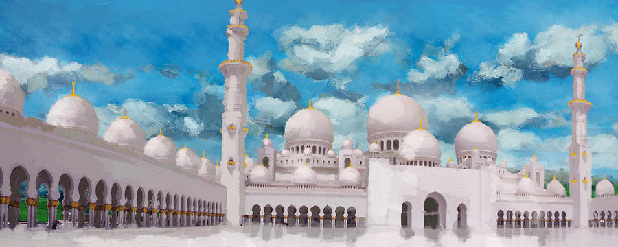 Sheikh Zayed Mosque Painting  - Sheikh Zayed Mosque Fine Art Print