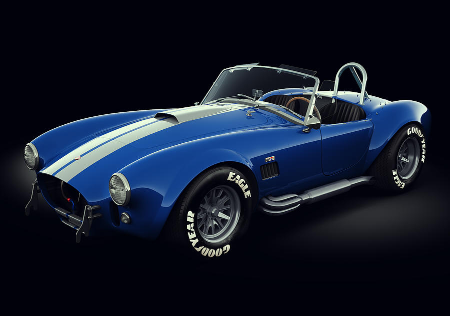 Transportation Digital Art - Shelby Cobra 427 - Bolt by Marc Orphanos