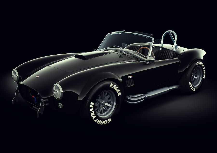 Shelby Cobra 427 - Ghost Digital Art  - Shelby Cobra 427 - Ghost Fine Art Print