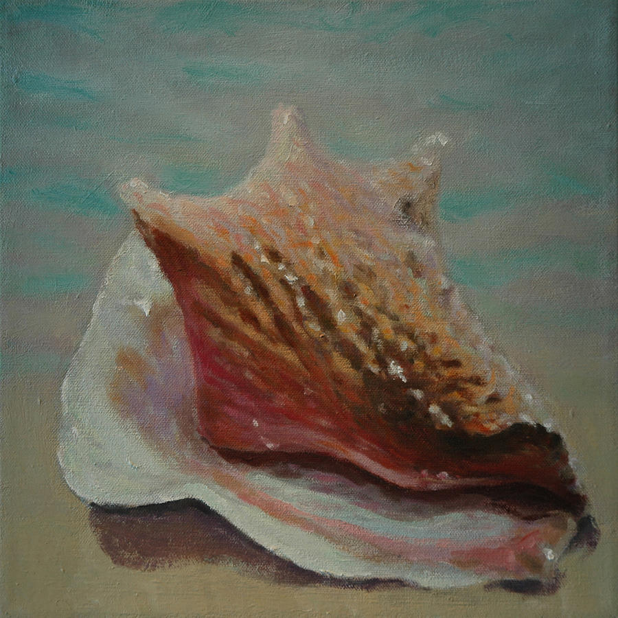 Set Painting - Shell Three - 3 In A Series Of 3 by Don Young