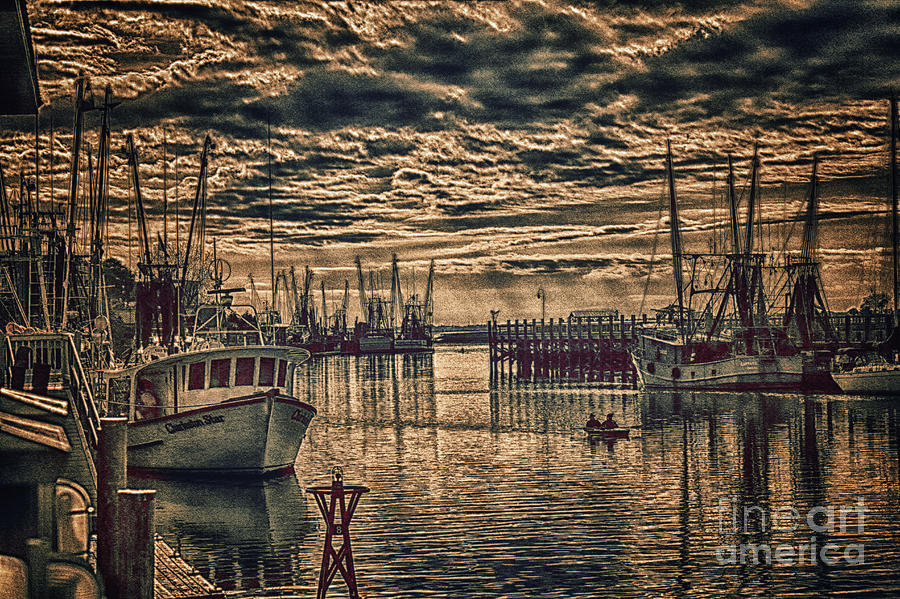 Shem Creek Mt Pleasamt. Sc Photograph  - Shem Creek Mt Pleasamt. Sc Fine Art Print