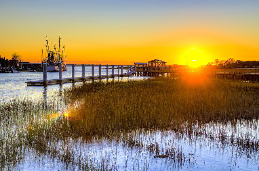Shem Creek Sunset - Charleston Sc  Photograph  - Shem Creek Sunset - Charleston Sc  Fine Art Print