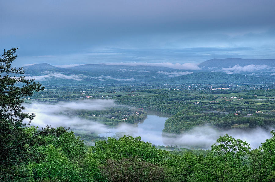 Shenandoah Evening Fog Photograph