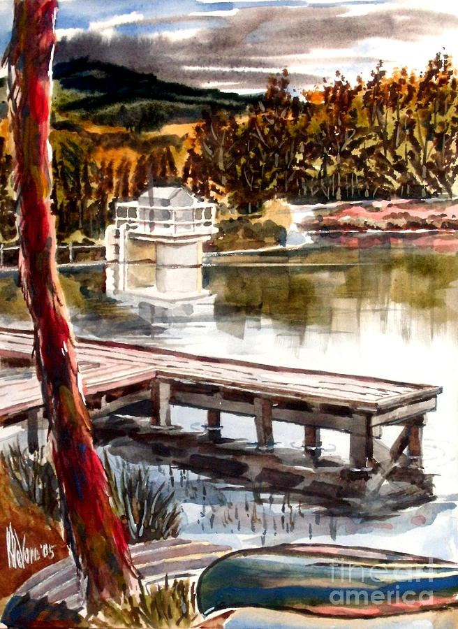 Shepherd Mountain Lake Bright Painting