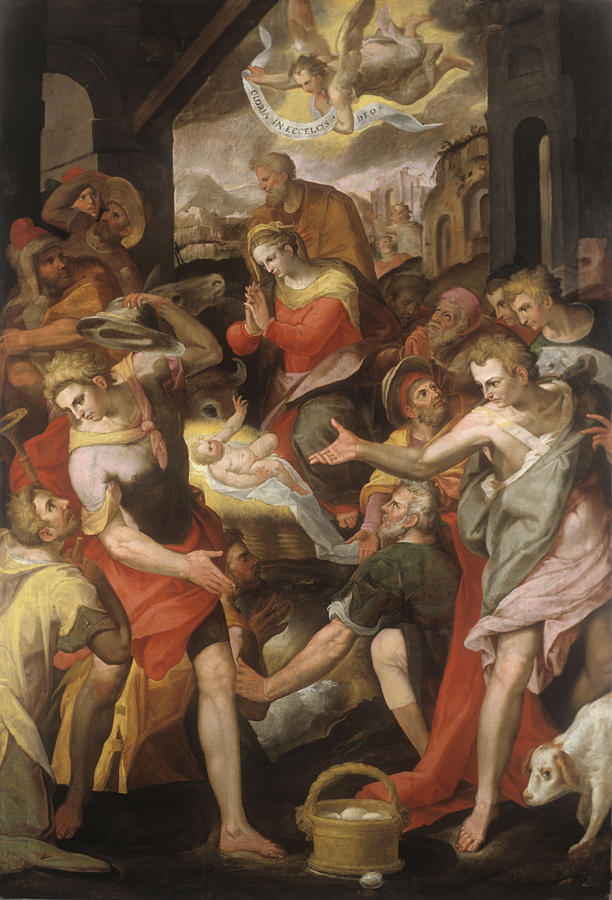 Shepherds Adoration , By Marco Painting