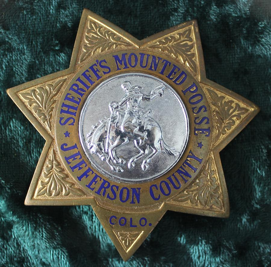 Badge Photograph - Sheriffs Mounted Posse by Steven Parker