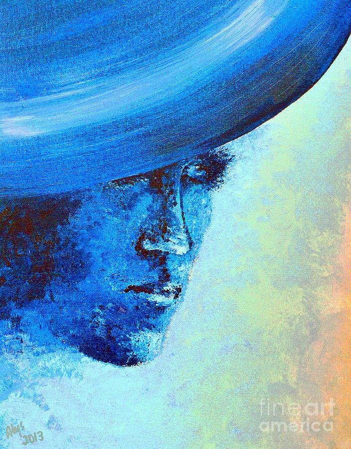 Shi Di Has The Blues Poster Digital Art