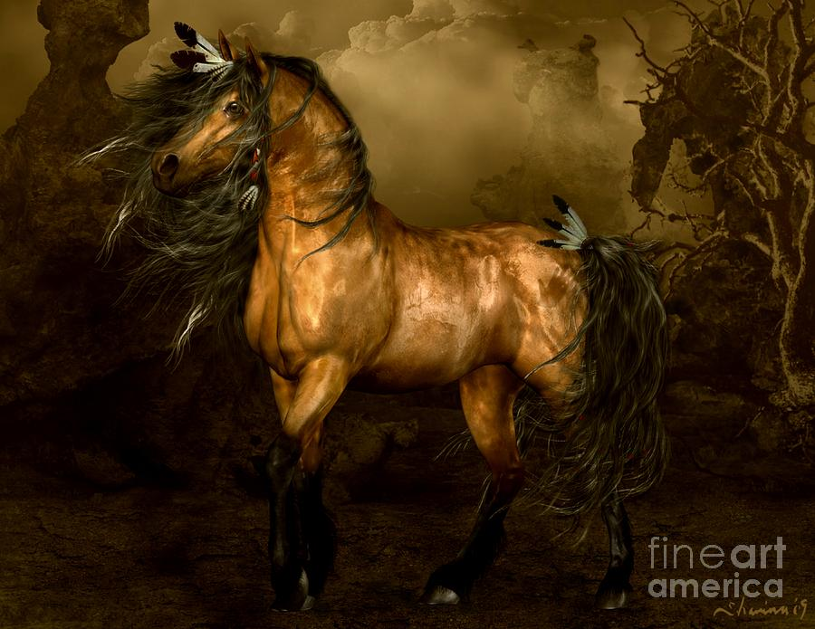 Shikoba Choctaw Horse Digital Art