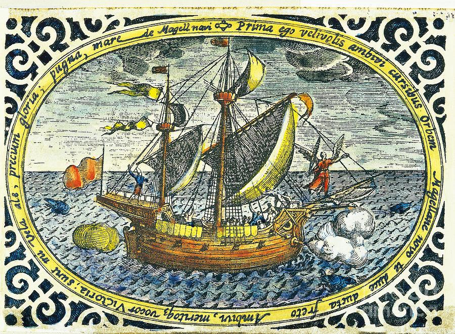 Print Photograph - Ship Of Magellan by Akg