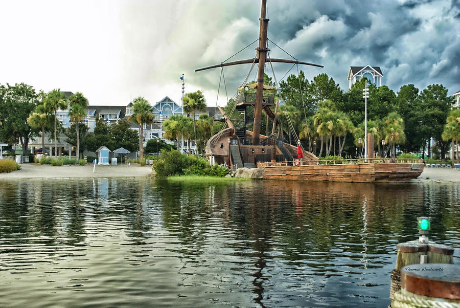 Ship Wrecked At The Disney Yacht And Beach Club Resort Photograph  - Ship Wrecked At The Disney Yacht And Beach Club Resort Fine Art Print