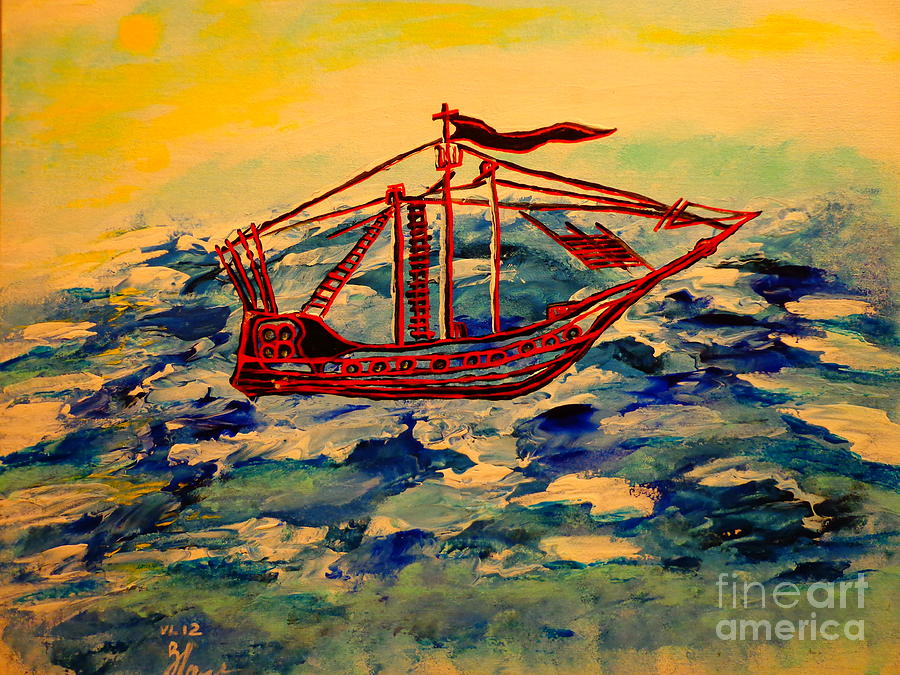 Ship.abstract. Painting  - Ship.abstract. Fine Art Print