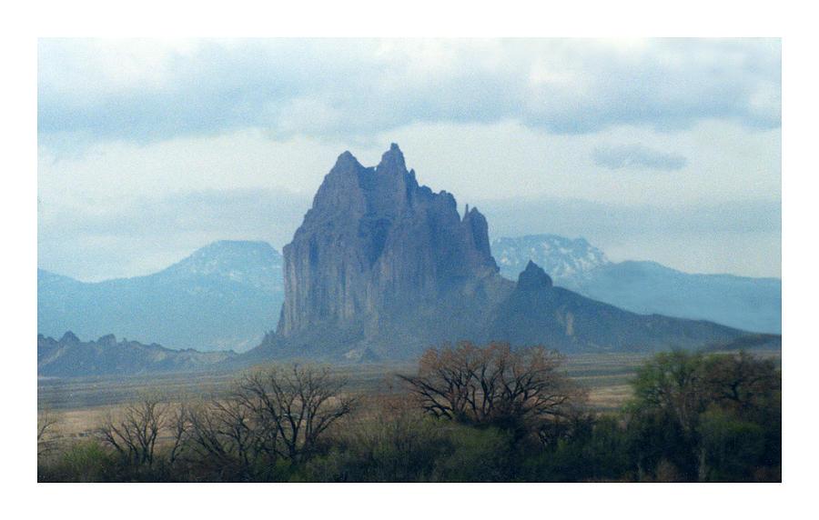 Mystical Shiprock Photograph - Shiprock  Mystical Mountain New Mexico by Jack Pumphrey