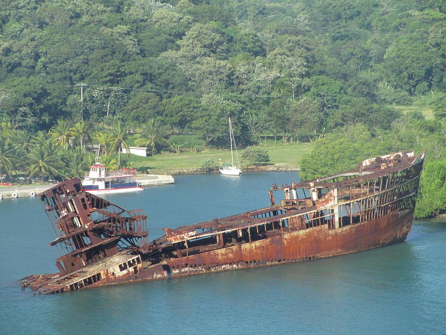Shipwreck Of Roatan Honduras Photograph By Elaine Haakenson