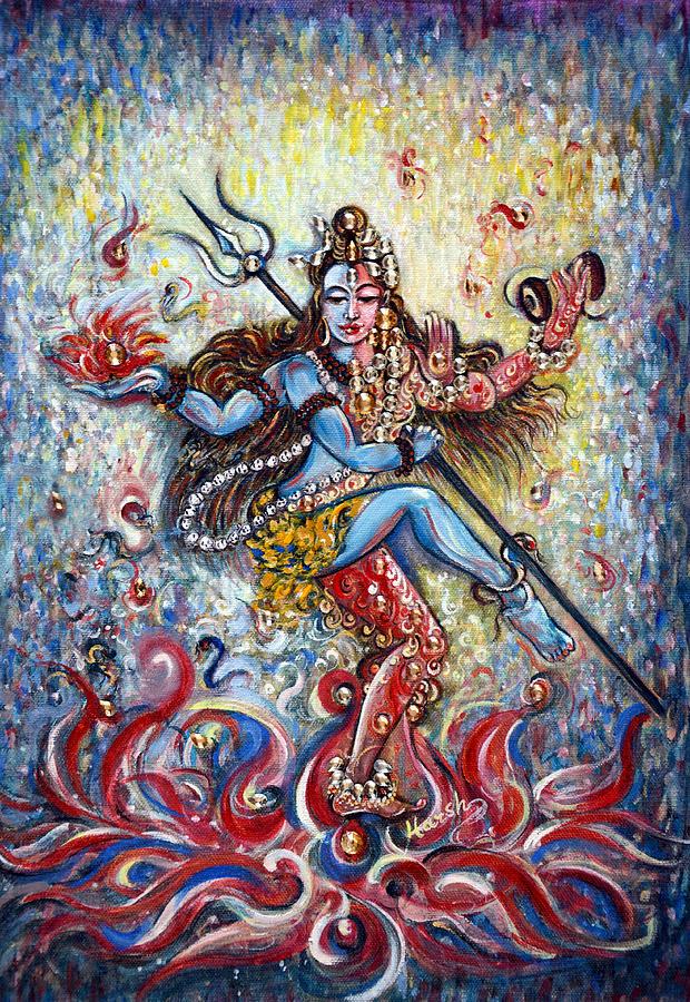 Shiv Shakti Painting By Harsh Malik
