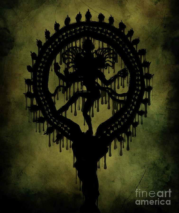 Spiritual Digital Art Painting - Shiva by Cinema Photography