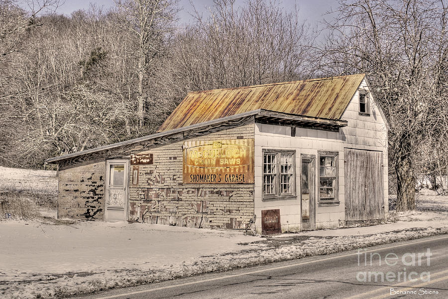 Shoemakers Garage Photograph  - Shoemakers Garage Fine Art Print