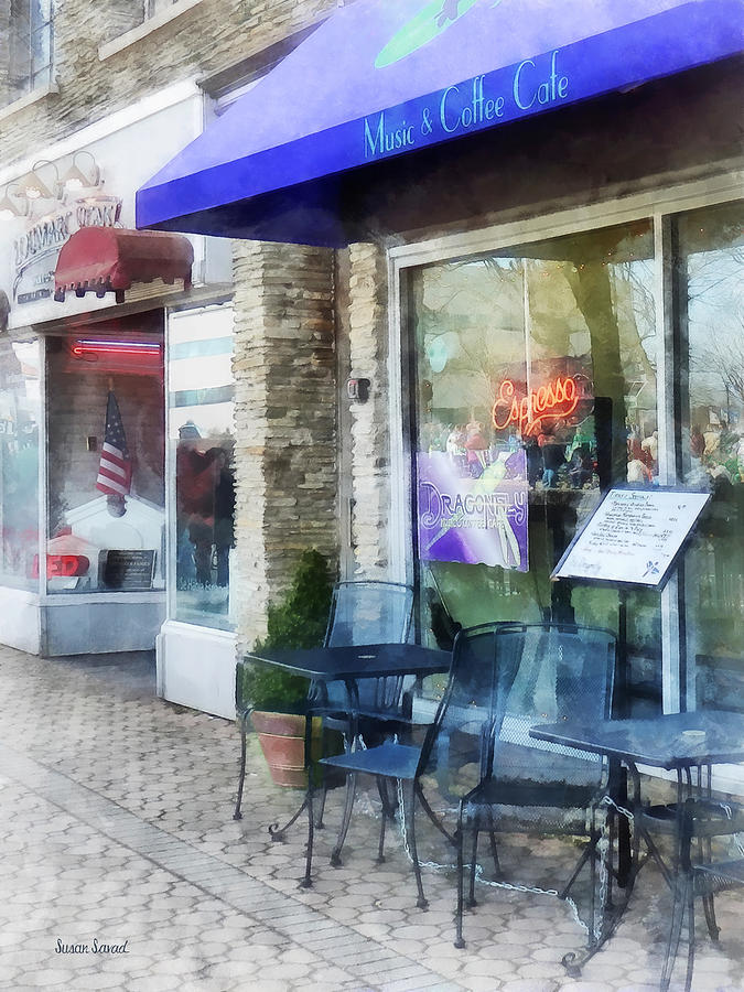 Shopfront - Music And Coffee Cafe Photograph  - Shopfront - Music And Coffee Cafe Fine Art Print
