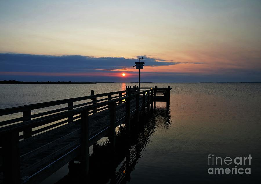 Short Walk On A Long Pier Photograph  - Short Walk On A Long Pier Fine Art Print
