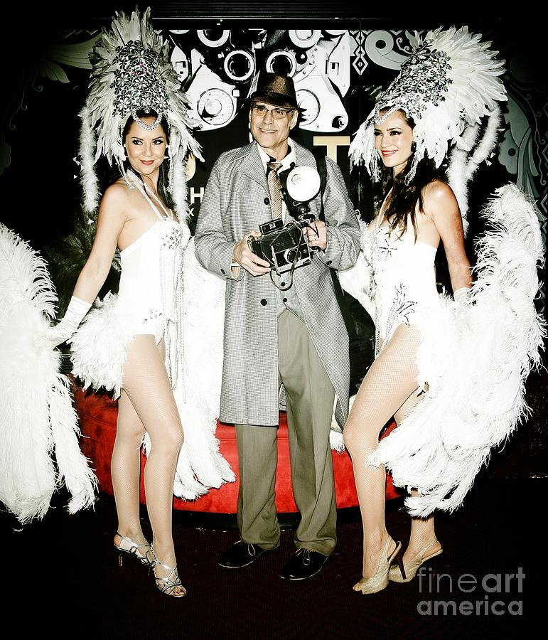 Showgirls And Photographer With Polaroid Photograph  - Showgirls And Photographer With Polaroid Fine Art Print
