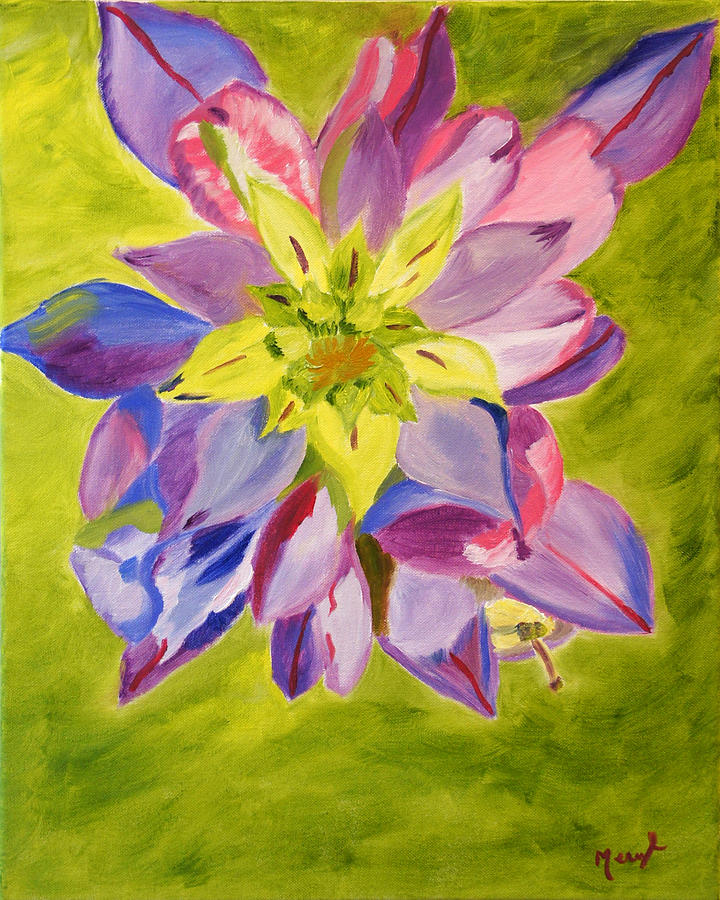 Flower Painting - Showing Through by Meryl Goudey
