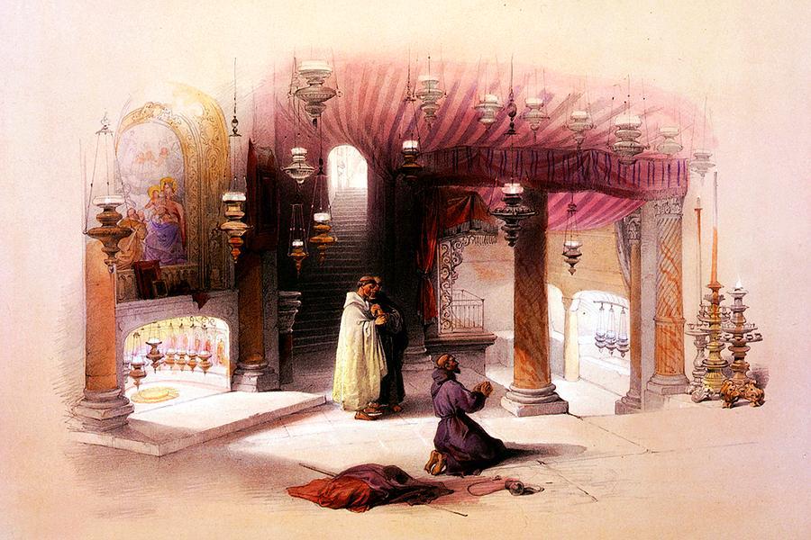 Shrine Of The Nativity Bethlehem April 6th 1839 Photograph