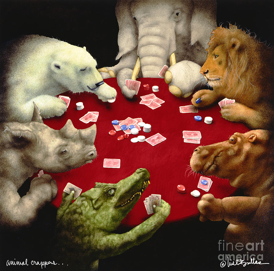 Shut Up And Deal... Painting  - Shut Up And Deal... Fine Art Print