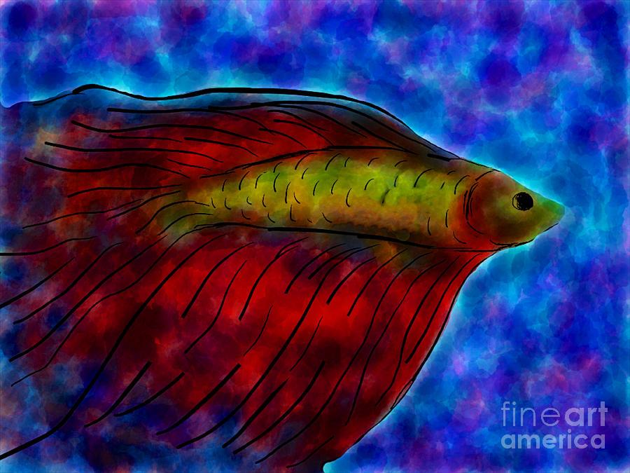 Siamese Fighting Fish II Painting