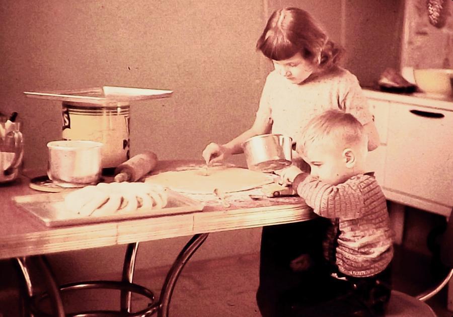 1950's  Photograph - Siblings Love by Brian Hubmann
