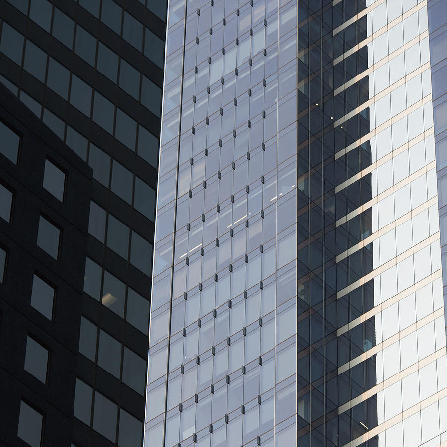 Side Of An Office Towers With Glass Photograph  - Side Of An Office Towers With Glass Fine Art Print