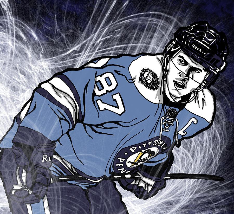 Crosby Digital Art - Sidney Crosby by Nate Gandt