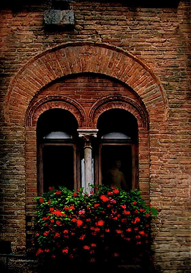 Window Painting - Sienna Window by Patrick J Osborne